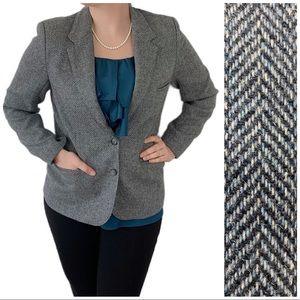 Nordstrom Herringbone Wool Blazer Gray